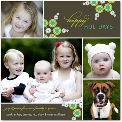 Flat Holiday Photo Cards - Fashionable Flakes