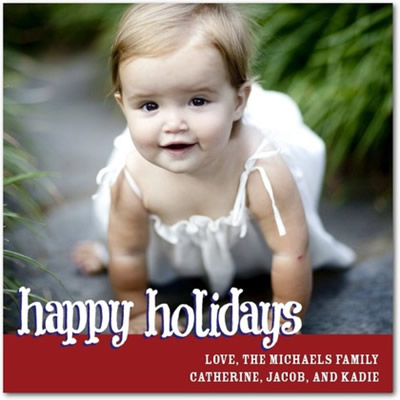 Flat Holiday Photo Cards - Hip Happiness