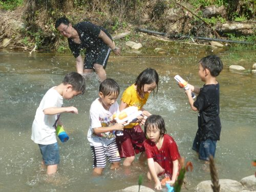 Water Fun in Stream