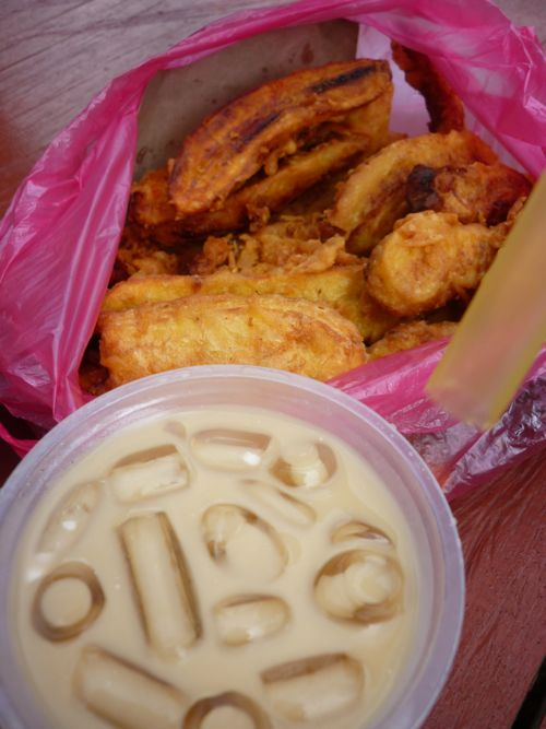 Banana Fritters and Cendol