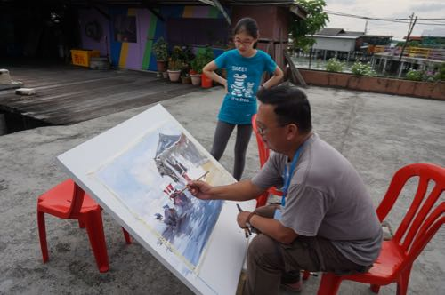 Our very own Malaysian artist - Chow Chin Chuan