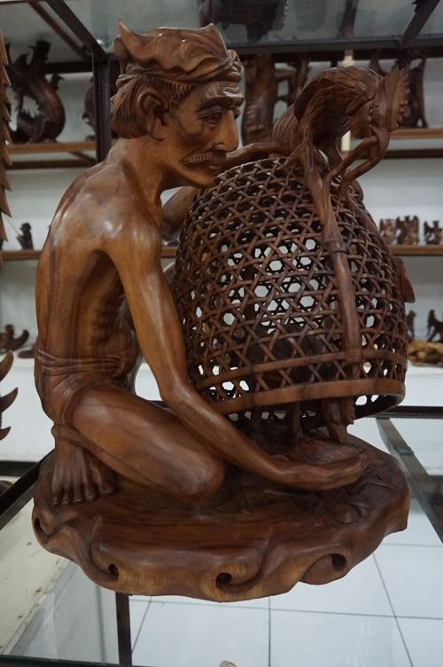 Wood carving in Bali