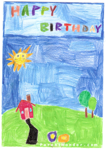 Happy Birthday Card for J from K