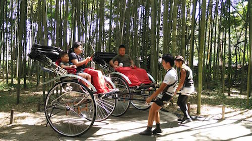 Arashiyama - Bamboo Grove - Rickshaws