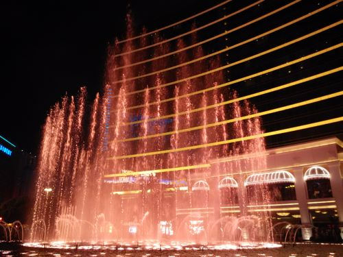 Fountain Show at Wynn Hotel