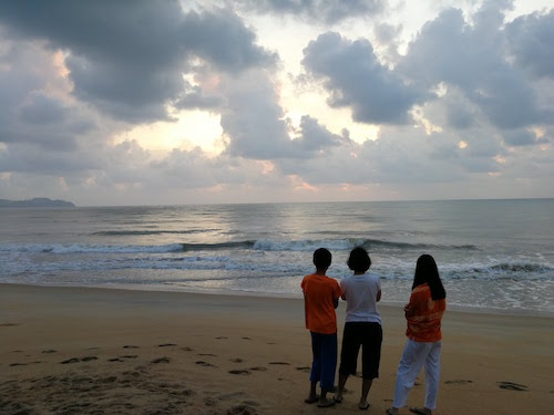Sunrise at Cherating beach