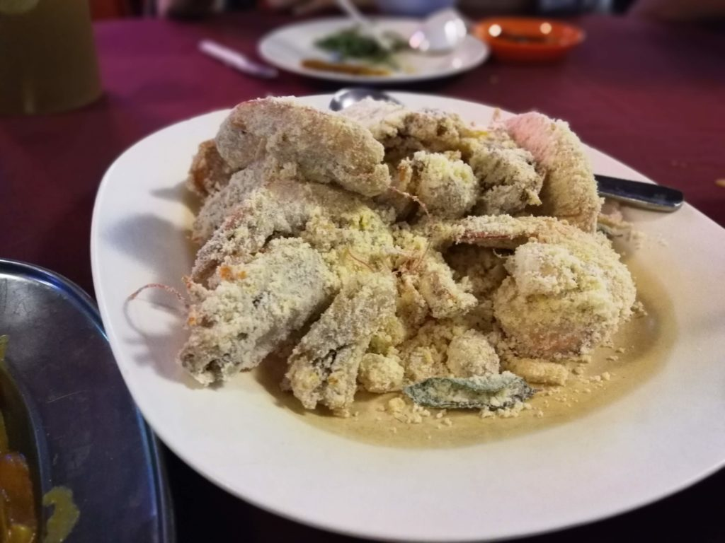 salted egg butter prawn