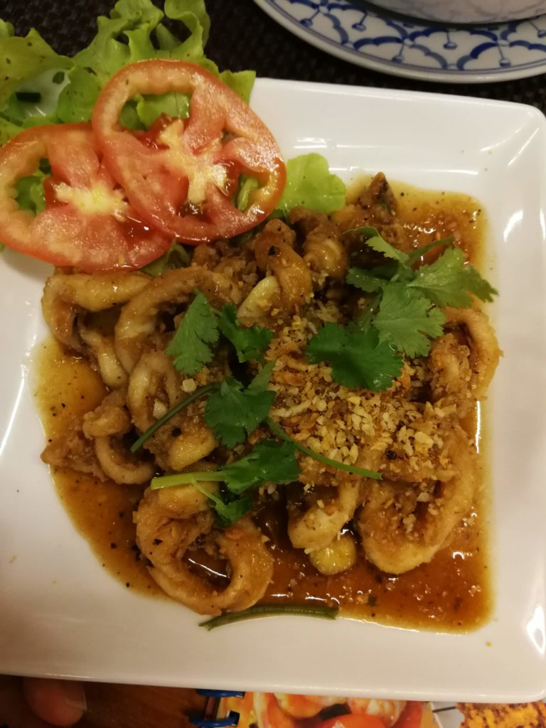 Black pepper squid