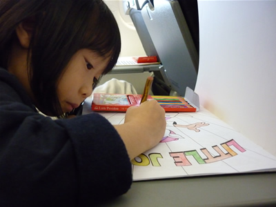 J coloring on the flight