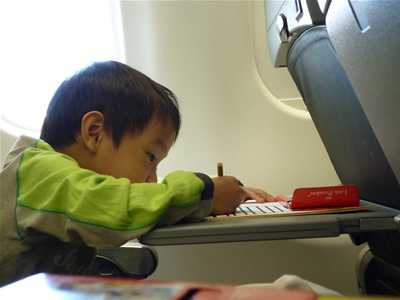 K coloring on the flight