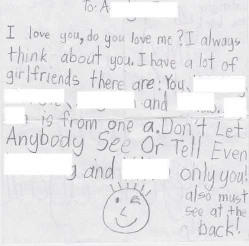 K's love letter