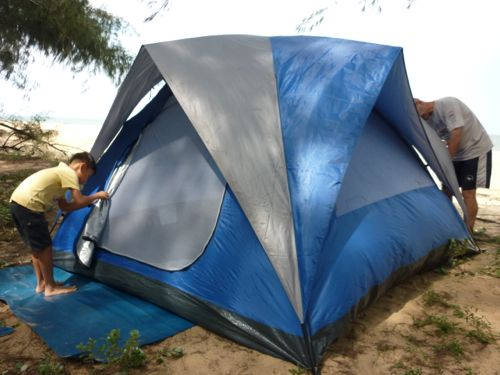 Tent is pitched