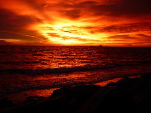 Sunset Pantai Jeram 4