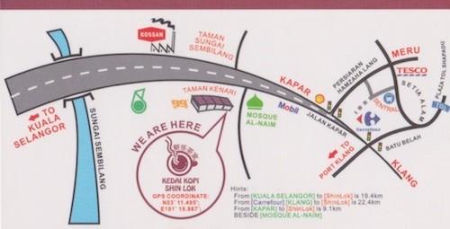 Kedai Kopi Shin Lok map